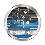 Plumbing and water pipe symbol Stock Photo