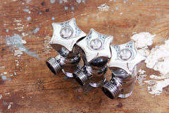 Plumbing water valves Royalty Free Stock Images