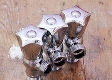 Plumbing water valves Royalty Free Stock Image
