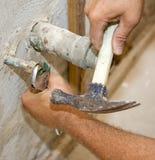 Plumbing Work Closeup Royalty Free Stock Image