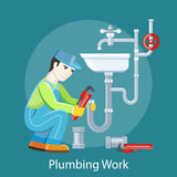 Plumbing Work Concept Stock Photos
