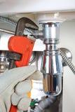 Plumbing work and sanitary engineering Stock Image