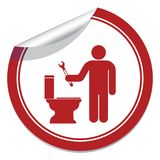Plumbing work symbol icon Royalty Free Stock Image
