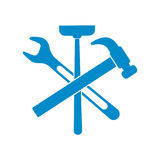 Plumbing work symbol icon Royalty Free Stock Photo