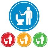 Plumbing work symbol icon Stock Photos
