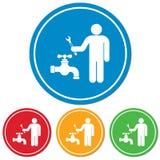 Plumbing work symbol icon Stock Photo