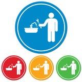 Plumbing work symbol icon Stock Images