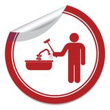 Plumbing work symbol icon Stock Photo