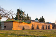 Plumbuita Monastery wall Royalty Free Stock Image