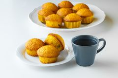 plumcake,早餐 免版税图库摄影