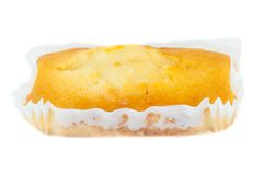 Plumcake. Beautiful white background of plumcake in studio Stock Images