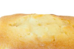 Plumcake. Beautiful white background of plumcake in studio Stock Photo