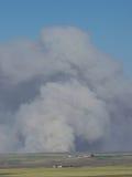 Plume de fumée dans le praire Photo libre de droits
