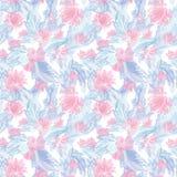 Plume et Lily Vector Pattern romantiques Photo libre de droits