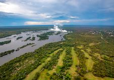 Free Plume Of The Famous Victoria Falls In Zimbabwe Royalty Free Stock Photo - 137382685