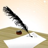 Plume pen vector Stock Photos