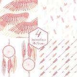 Plume rose illustration de vecteur