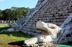 Plumed Serpent Columns Stock Image