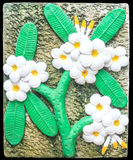 Plumeria decorated tiles Royalty Free Stock Images