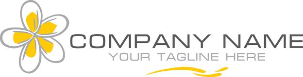 Plumeria Logotipo simples para a empresa Imagens de Stock Royalty Free