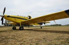 Plumero de la cosecha del aeroplano Imagen de archivo libre de regalías