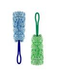 Plumero mullido azul y verde Imagen de archivo libre de regalías