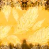 Plumes argentées d'or Composition décorative Configuration sans joint Composition décorative Photos libres de droits