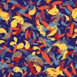 Plumes colorées sur un fond noir Image stock