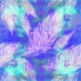 Plumes légères, grand et petit sur un fond d'aquarelle - composition décorative, papier peint Image libre de droits