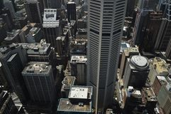 Plummet. Look down to Sydney city buildings from  height Stock Photo