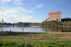 Plumlov Castle στη Δημοκρατία της Τσεχίας Στοκ Φωτογραφίες