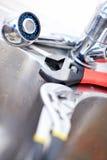 plumming γαλλικό κλειδί καταβ&omic Στοκ Εικόνες
