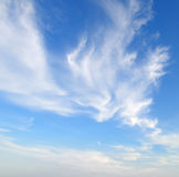 Plumose clouds Royalty Free Stock Photo