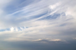 Plumose clouds Royalty Free Stock Photos