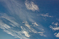 Plumose clouds in the sky Royalty Free Stock Photography