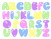 Plump alphabet Stock Photo