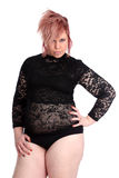 Plump alternative young woman Royalty Free Stock Photography