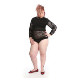 Plump alternative young woman Royalty Free Stock Images
