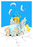 Plump angel Royalty Free Stock Photography
