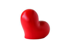 Plump Heart. Red plump heart decor; white background Stock Photos