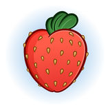 Plump Juicy Strawberry Cartoon Illustration Stock Photos