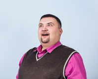 Plump surprised businessman Stock Photography