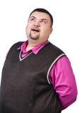 Plump surprised businessman Stock Photos
