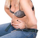 Plump woman Royalty Free Stock Images