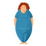Plump woman. Vector image of a sport Plump woman Stock Photos