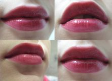 Plumpy lippen royalty-vrije stock foto