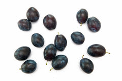 Plums. On the white background Royalty Free Stock Images