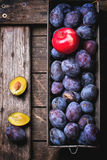 Plums and apples Royalty Free Stock Photography
