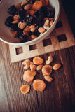 Plums and apricots Royalty Free Stock Photography