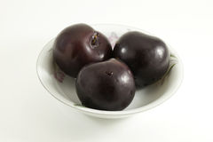 Plums in a Bowl. Plums in a china bowl Stock Photo